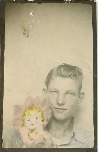 Young Man and a Doll