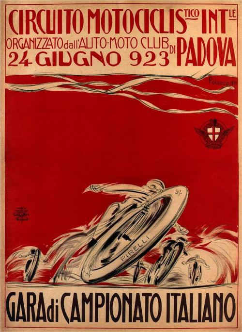 Motorcycle race, Italy,1923