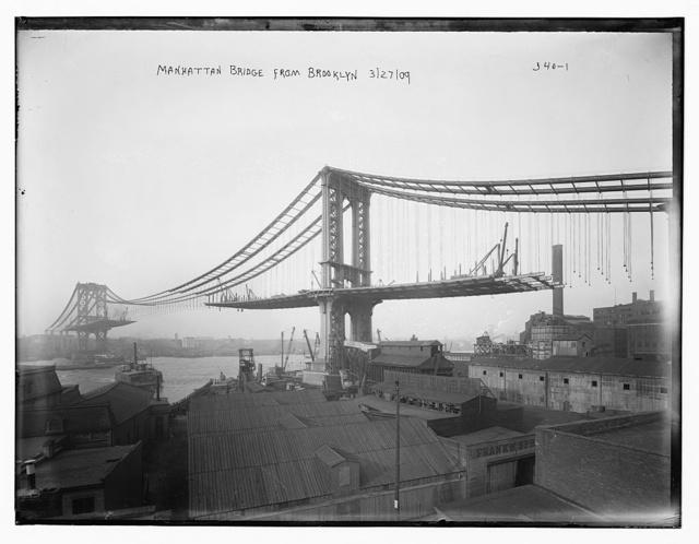 Building the Manhattan Bridge, NYC,1909