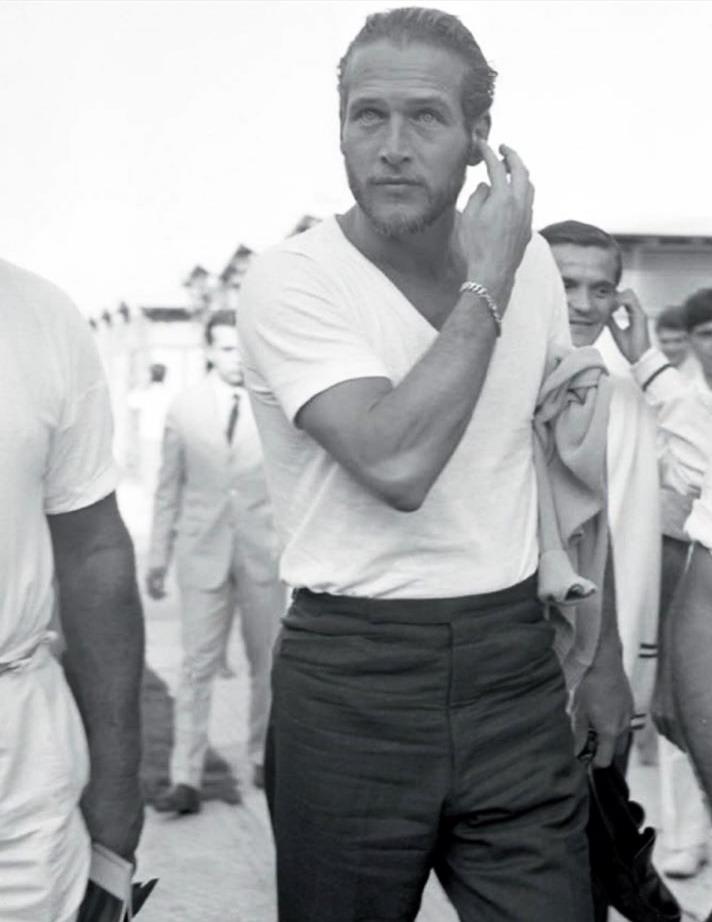 Paul Newman, with abeard