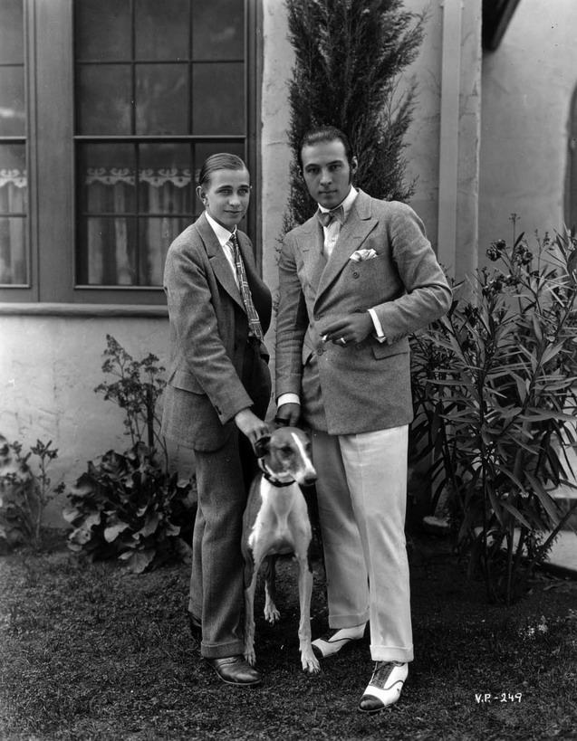 Rudolph Valentino (right) and friend,1925