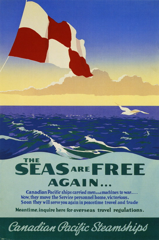 1945: The seas are free again