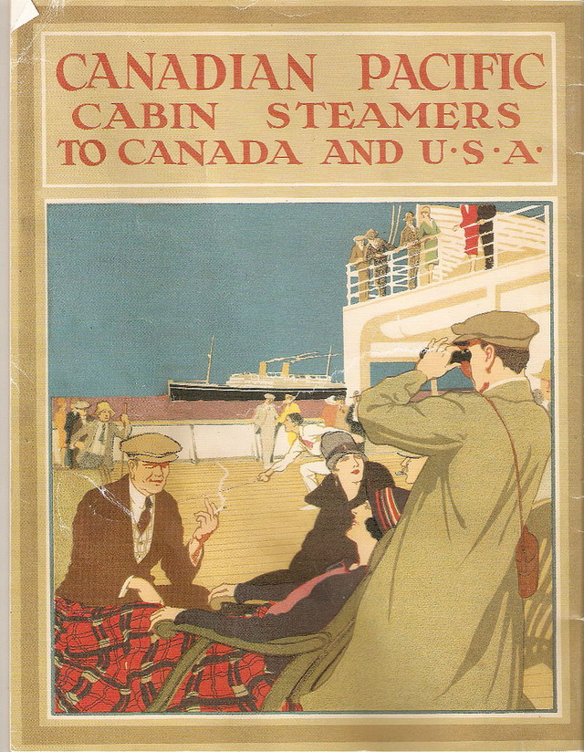 Canadian Pacific steamers to Canada and USA (1920s?)