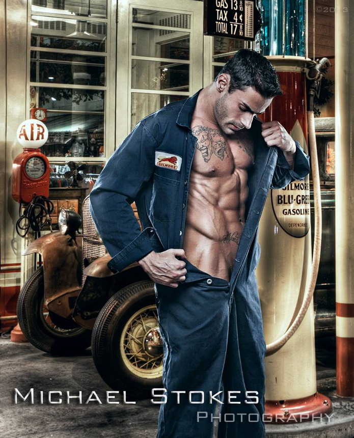 Gas station attendant by MichaelStokes