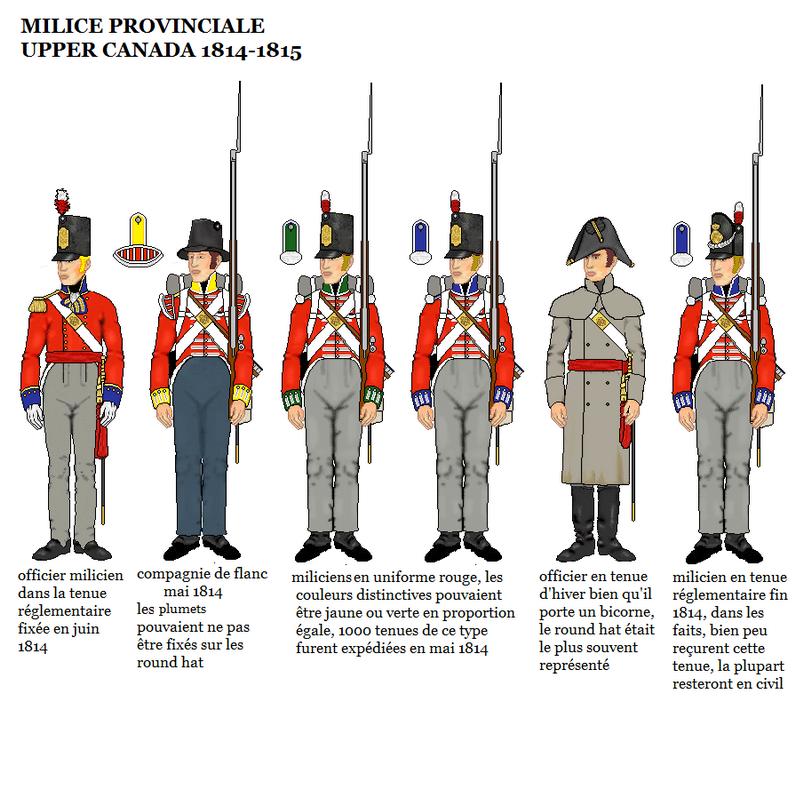Les uniformes de la Milice Provinciale du Upper Canada,1814-15