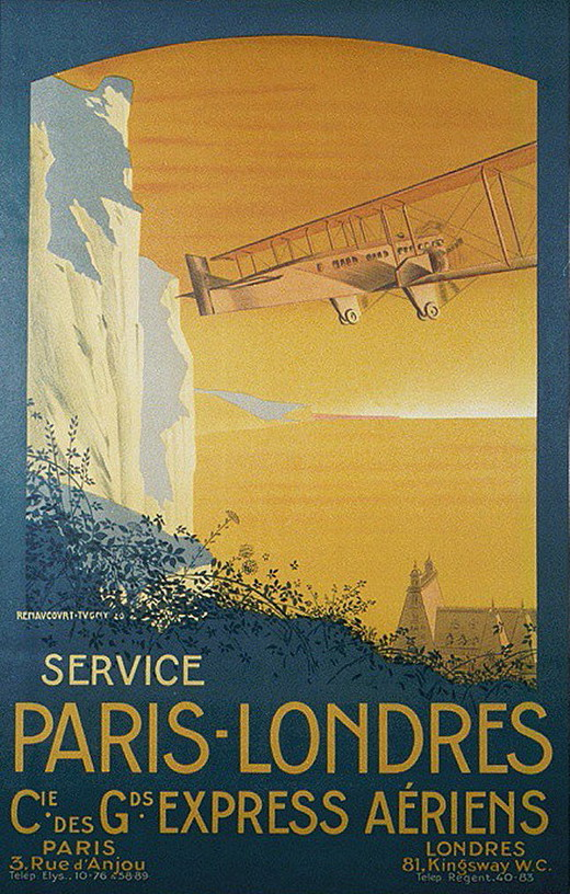 Paris – London by air, circa 1910 (?)
