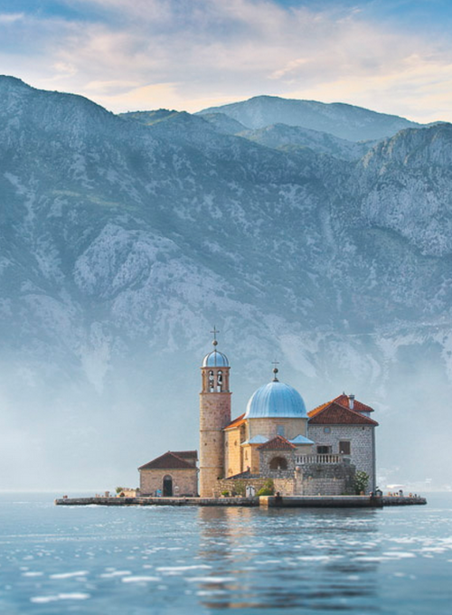 Church on a small island,Montenegro