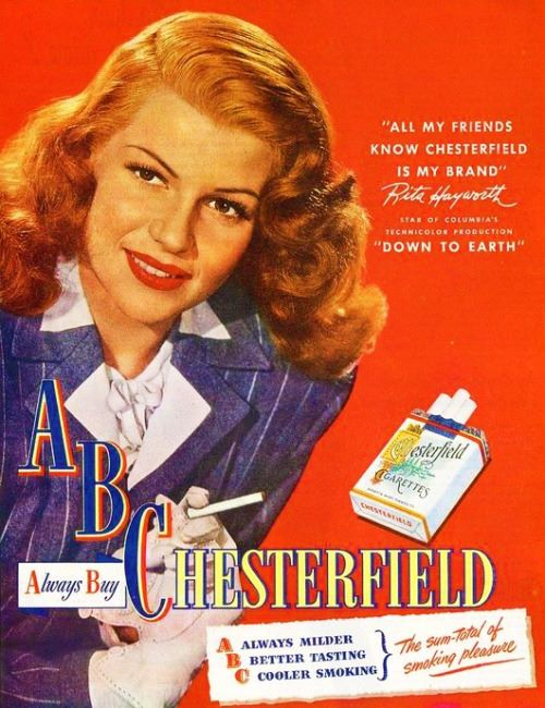 Rita Hayworth forChesterfields