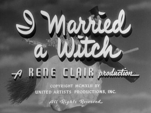 I Married a Witch – starring Veronica Lake,1952