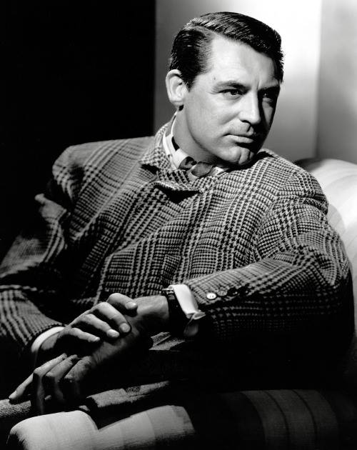 Cary Grant working somehoundstooth