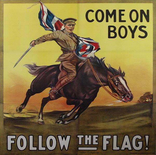 Follow the Flag, WWI,UK