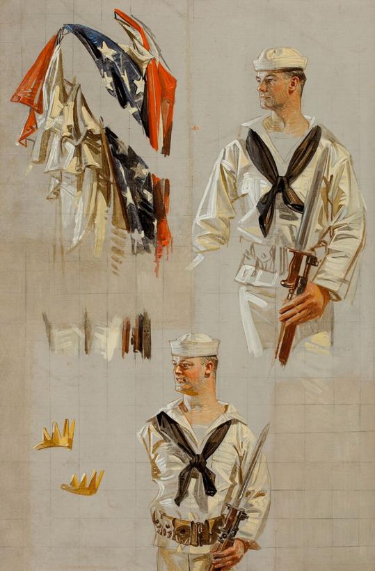 Leyendecker sailor sketch