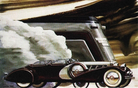 1930s car train 501