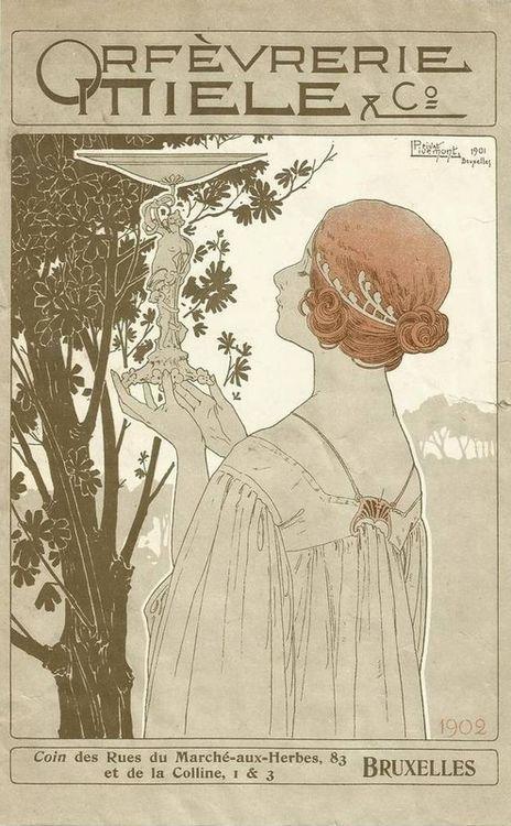 Art Nouveau Poster, Bruxelles,1902