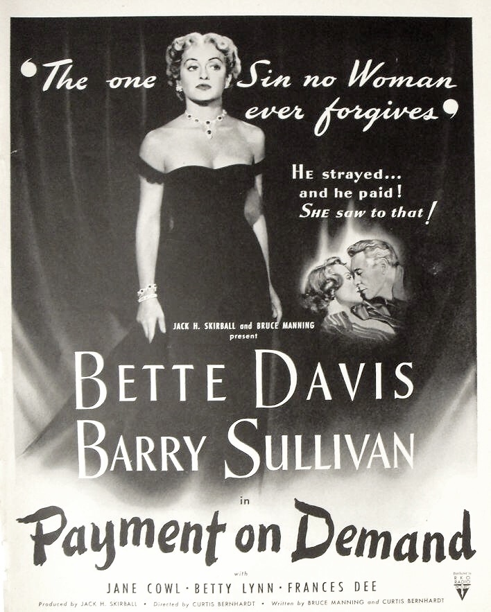"Bette Davis in ""Payment on Demand"""