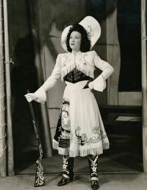 "Cowgirl Ethel Merman as Annie Oakley in ""Annie Get Your Gun"",1946"