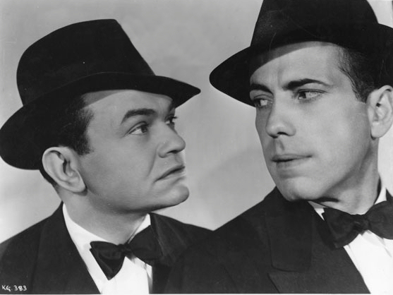 Humphrey Bogart and Edward G. Robinson