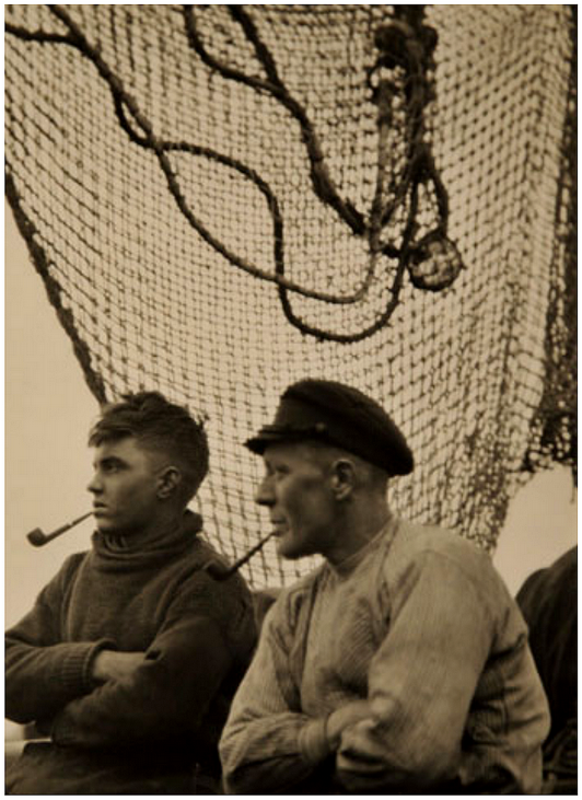 Fishermen, with pipes