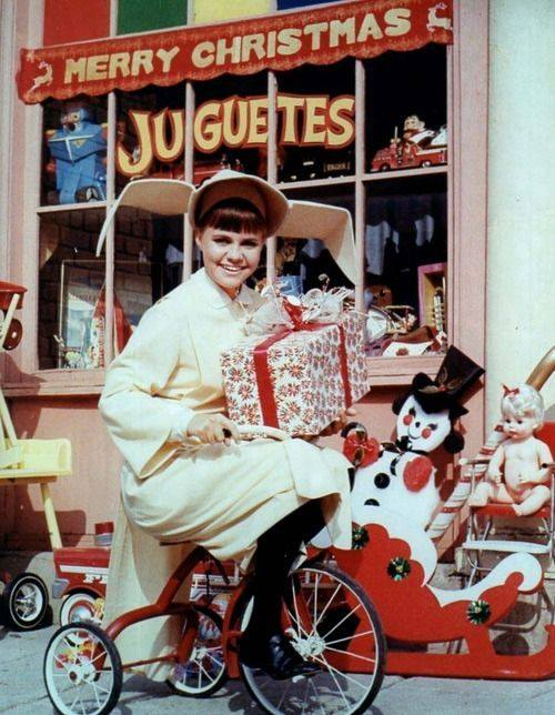 Sally Field in a Flying Nun Christmas photo