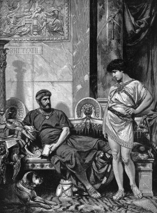 Emperor Hadrian and his boy-toy Antinous