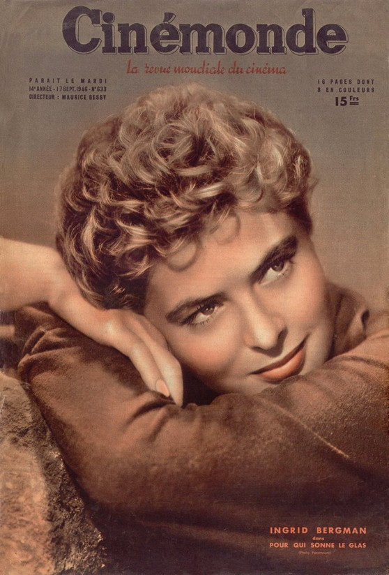 Ingrid Bergman on the cover of Cinemonde, 1946
