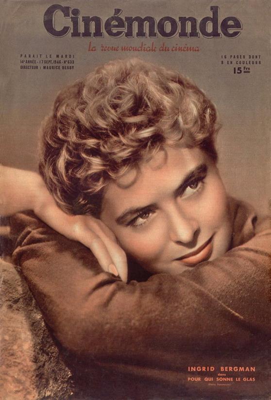 Ingrid Bergman on the cover of Cinemonde,1946