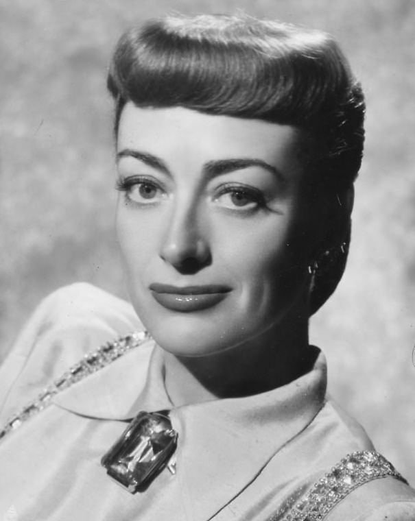 Joan Crawford in a very unflattering hair style