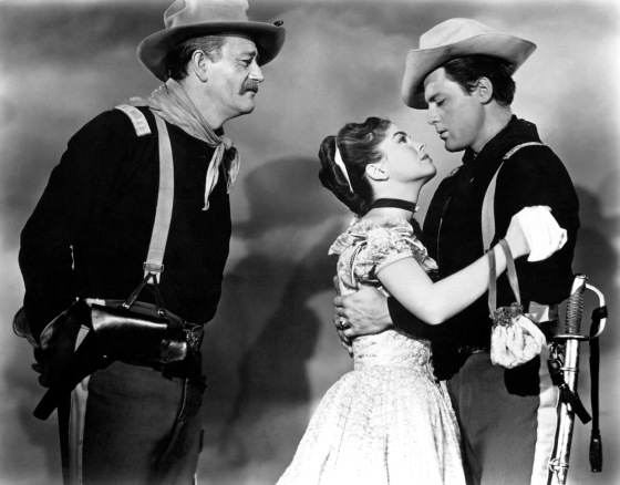 John_Wayne - she wore a yellow ribbon - & Joanne Dru