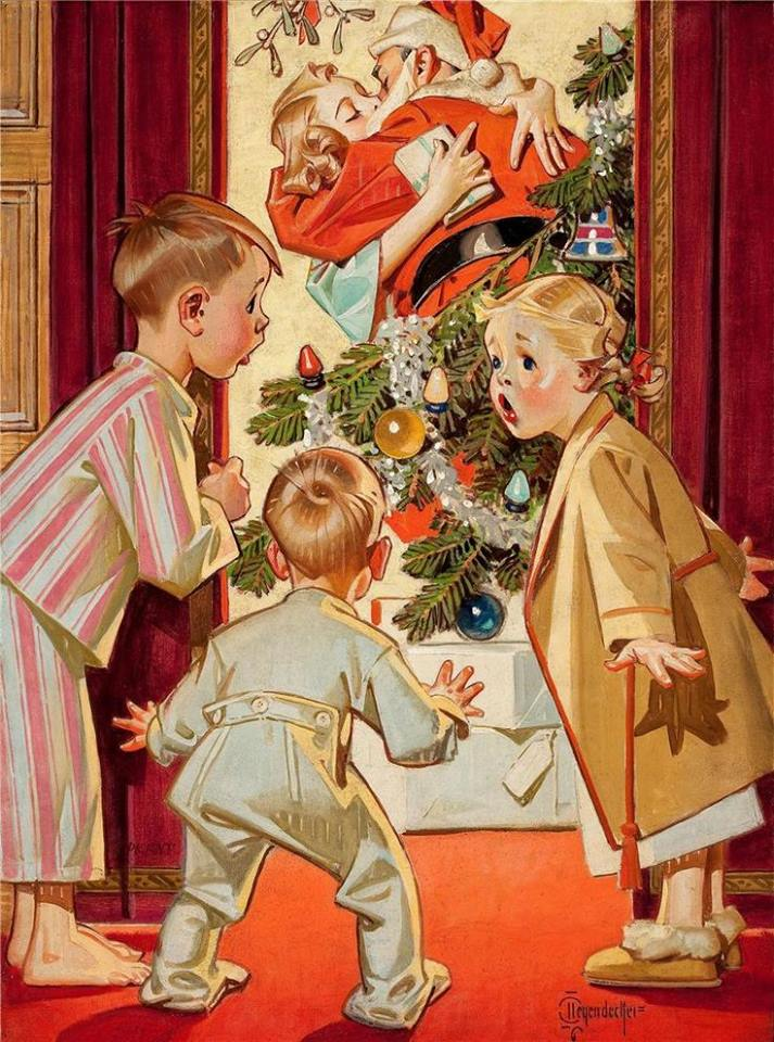 Leyendecker Christmas decoration