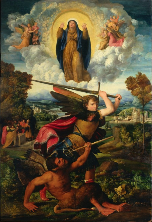 The Assumption of the Virgin with Saint Michael the Archangel Vanquishing the Devil, 1533