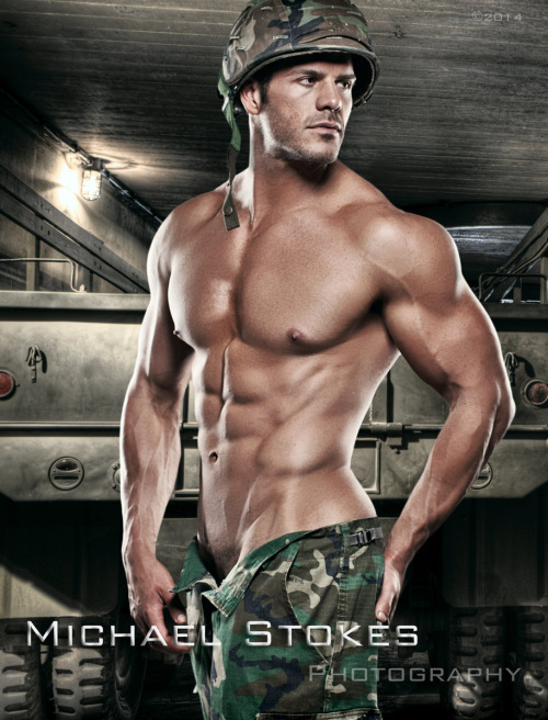 Gratuitous Shirtless Soldier by Michael Stokes