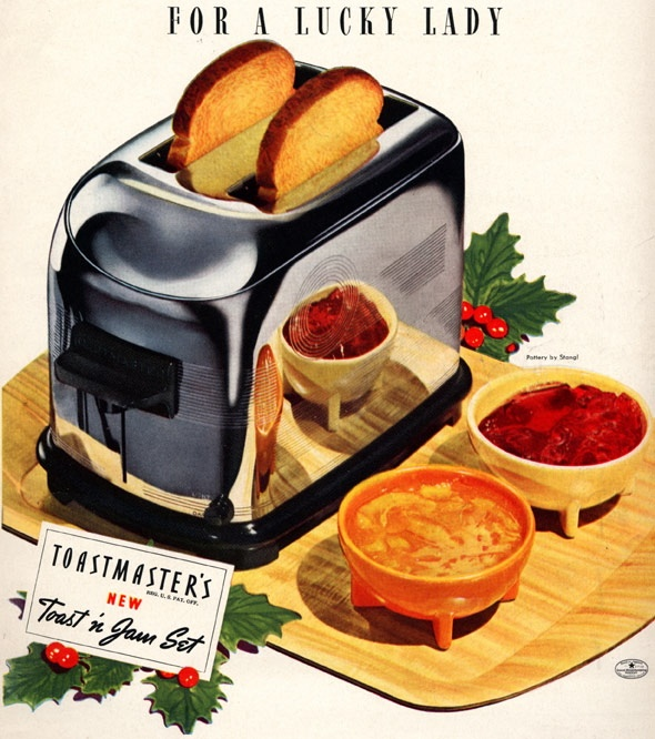 For a lucky lady – a toaster for Christmas