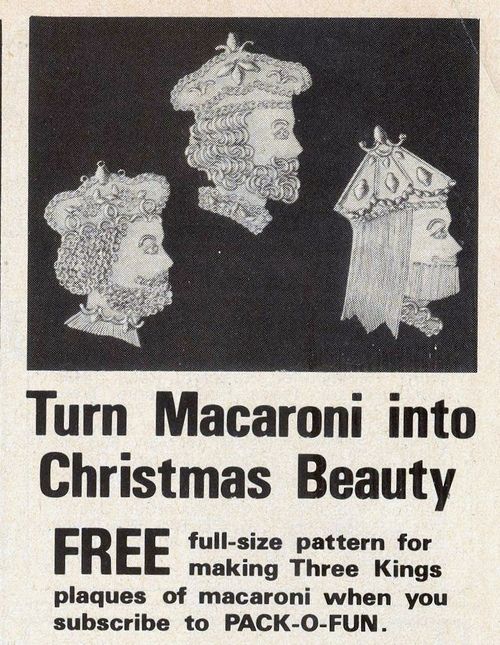 Turn macaroni into Christmas beauty