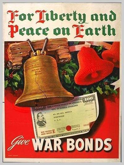 For peace on earth buy war bonds