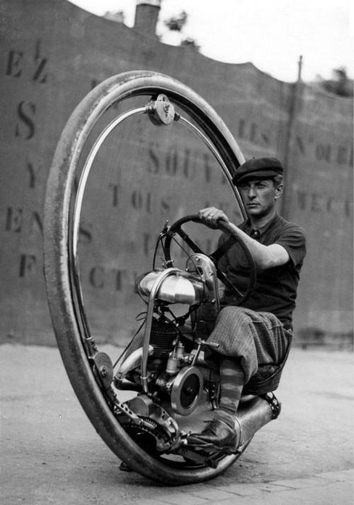 1920's Motoruota One Wheel Motorcycle