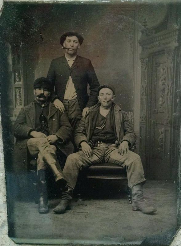 Vintage thuggish trio
