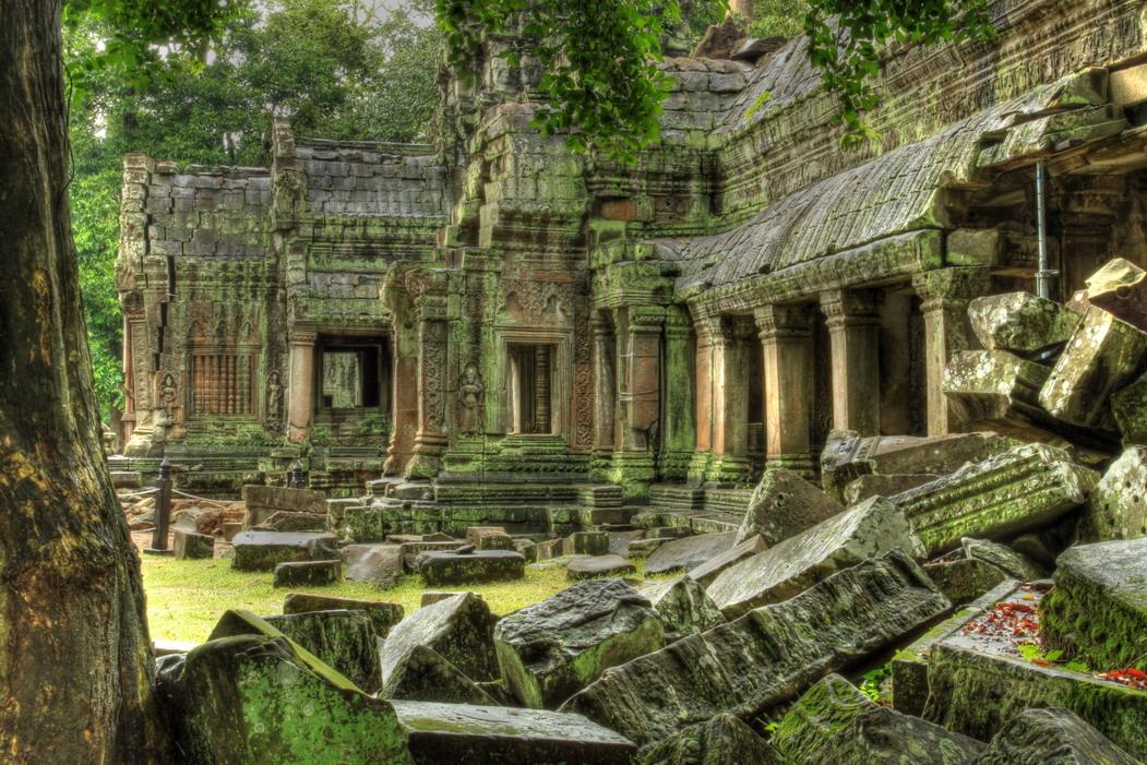 Ruins at Angkor Wat,Cambodia