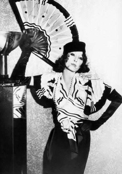 Anjelica Huston in Chloé by Karl Lagerfeld,1973