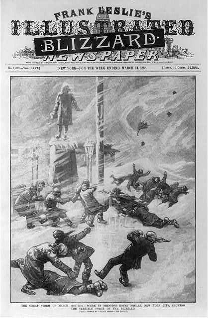 Blizzard of 1886,NYC