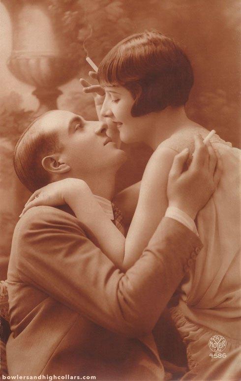 French romantic postcard/Carte postaleromantique