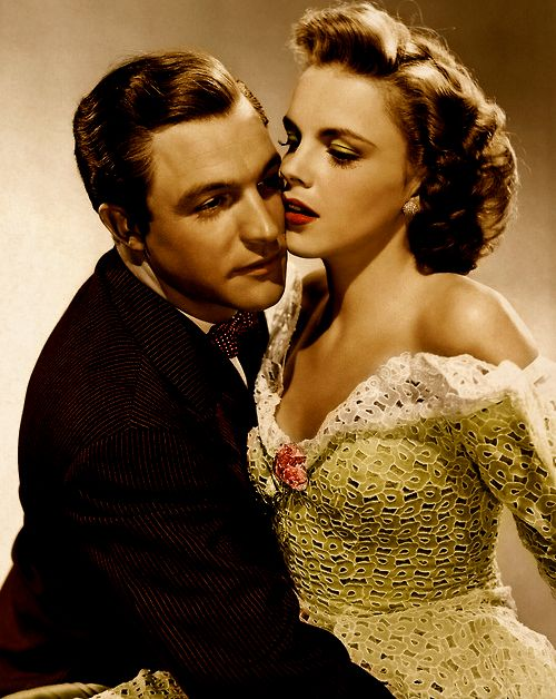 Gene Kelly and Judy Garland,colourized