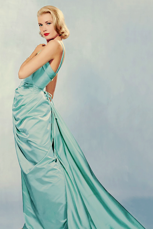 Grace Kelly wearing an Edith Head dress, photographed by Halsman,1955