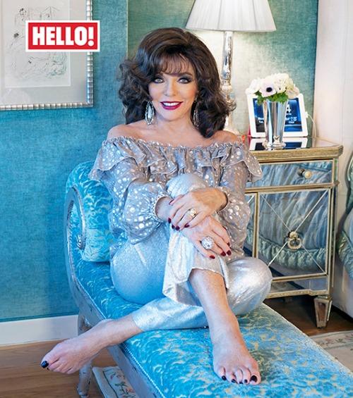 Joan Collins in Hello!magazine
