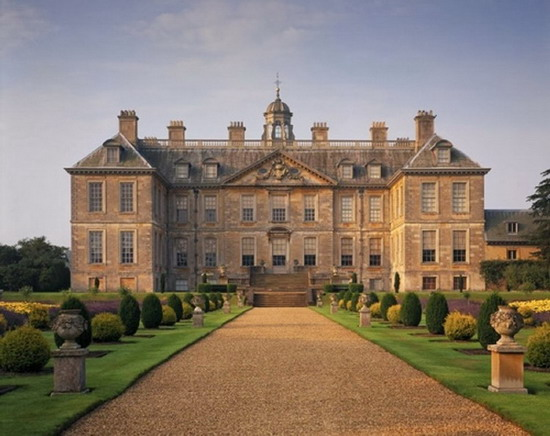 The North Front at Belton House, a Restoration country house built 1685-88.