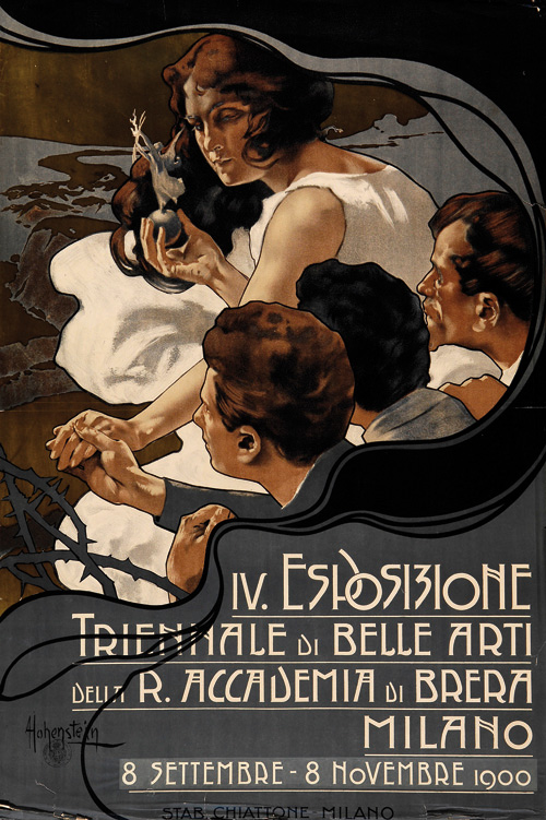 Esposisione Triennale di Belle Arti, Milano,1900