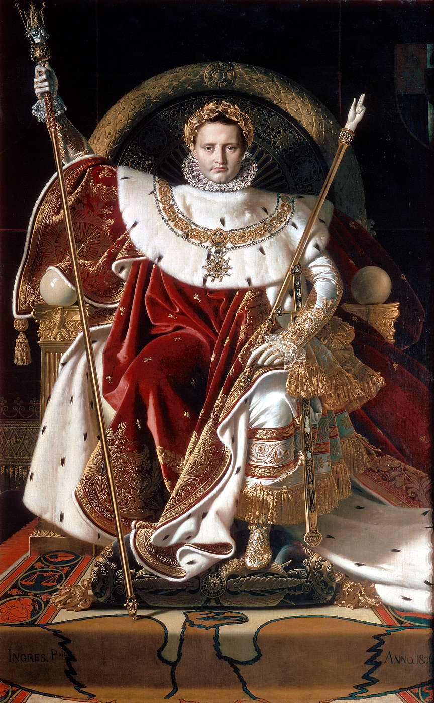 Emperor Napoleon on the Imperial Throne ofFrance