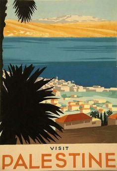 Palestine tourism poster,pre-1948