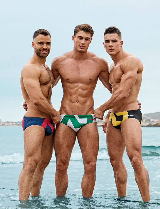 Models in speedos
