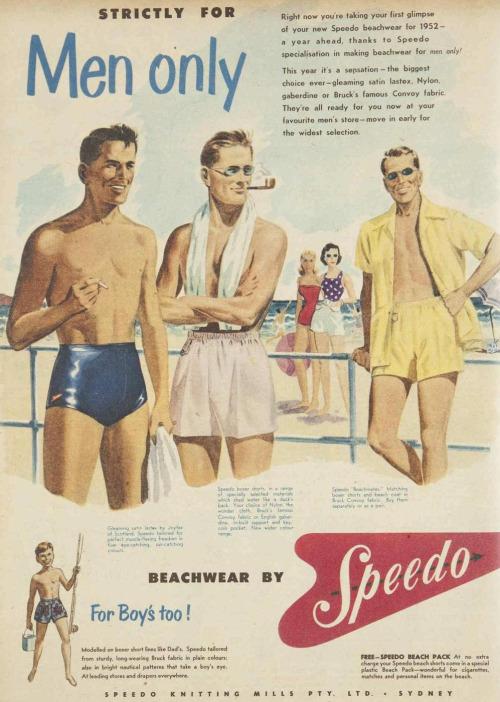 Vintage Speedo ad