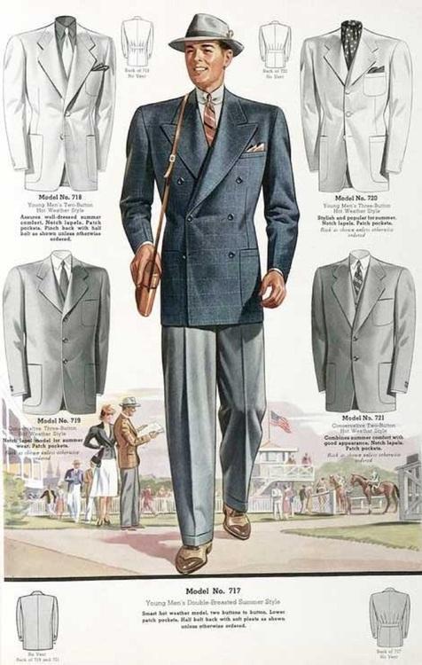 Vintage Fashion: Men's wear for the horse races,1930s